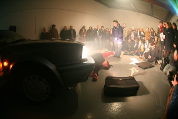 <b>Bedwyr Williams</b>, <i>Dundeed</i>, performance, Dromos, Generator Projects, Dundee. Courtesy the artist and Ceri Hand Gallery