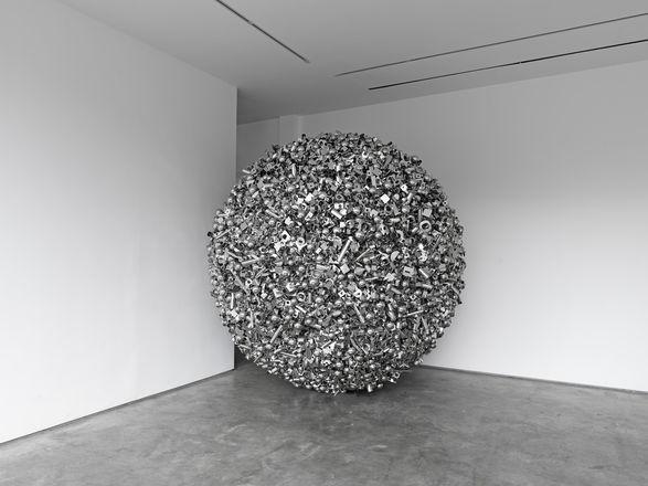 <i>More really shiny things that don't mean anything</i>, Stainless steel components, 275 x 275 x 275 cm, 2012. © Ryan Gander. Photo: Ken Adlard. Courtesy of Lisson Gallery