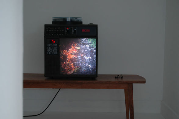 <i>Hearth & Hill</i>, (slide projection installation at Oriel Davies, Newtown), 2011.