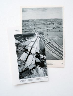<i>The Road</i>, 2012, Book pages, 31 x 22cm
