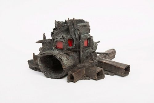 Rob Voerman Traverse #1, 2013, Bronze and glass, 40 x 38 x 24cm, Collection Nederlandse Bank