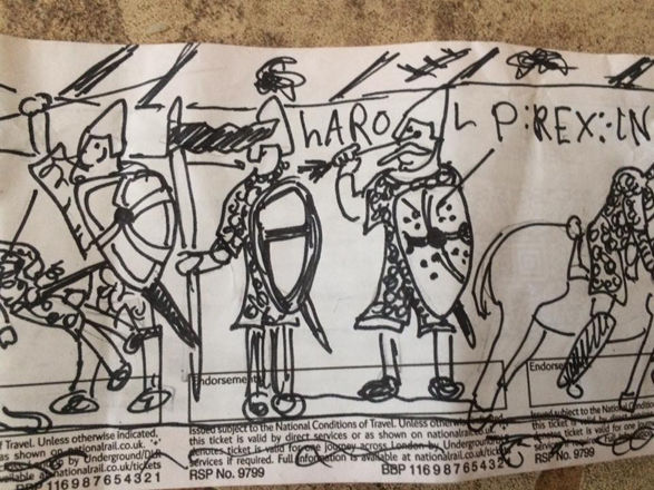 Dai Howell, <i>Paper Ticket Bayeux Tapestry</i>, © 2017