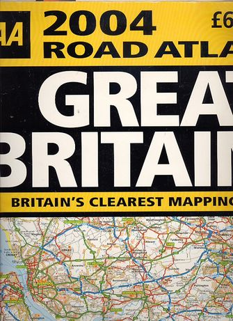 on road atles maps book