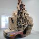 A Permeable Body of Solitude, 2012, 3,5 x 3 x 4 meters, cardboard, glass, plexieglass, car-piece and epoxy. Courtesy Upstream Gallery